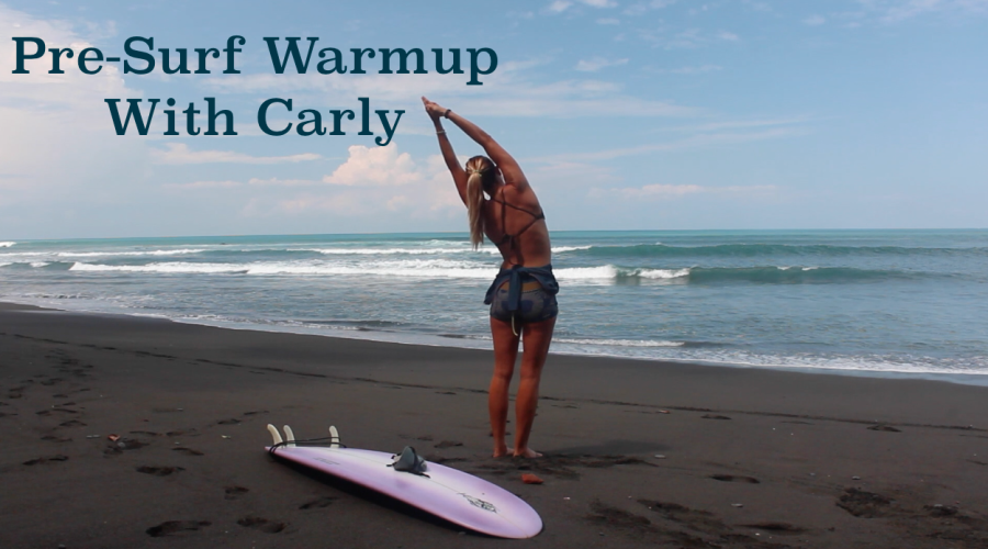 Pre-Surf Warm-up Routine with Carly
