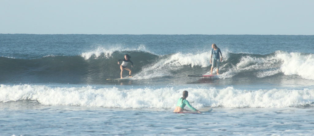 Surf yoga retreat, surf coaching, nicaragua, holly beck, surf camp, womens