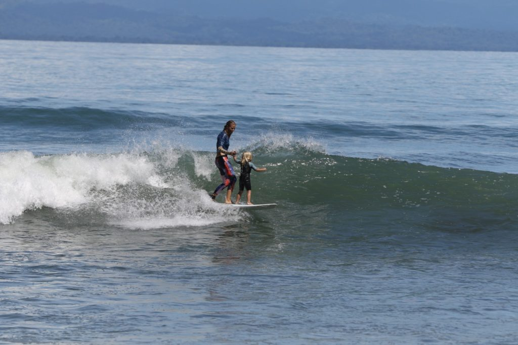 future generations, learn to surf, protect the ocean, costa rica, world oceans day
