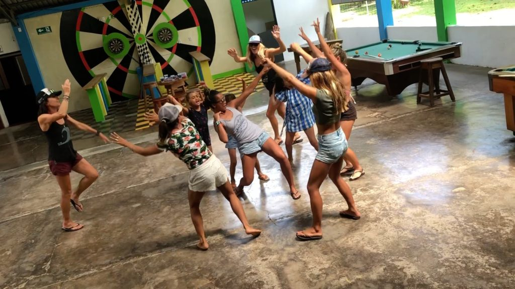 family surf retreat, surf with amigas, costa rica