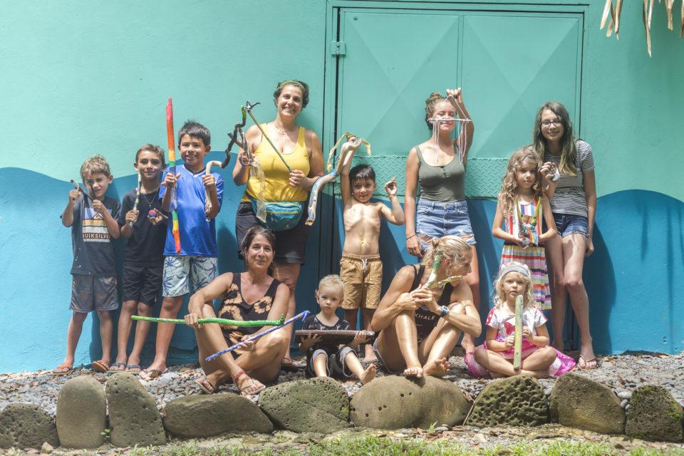 family retreat, art class, de colores art studio, Costa Rica, surf with amigas, surf camp