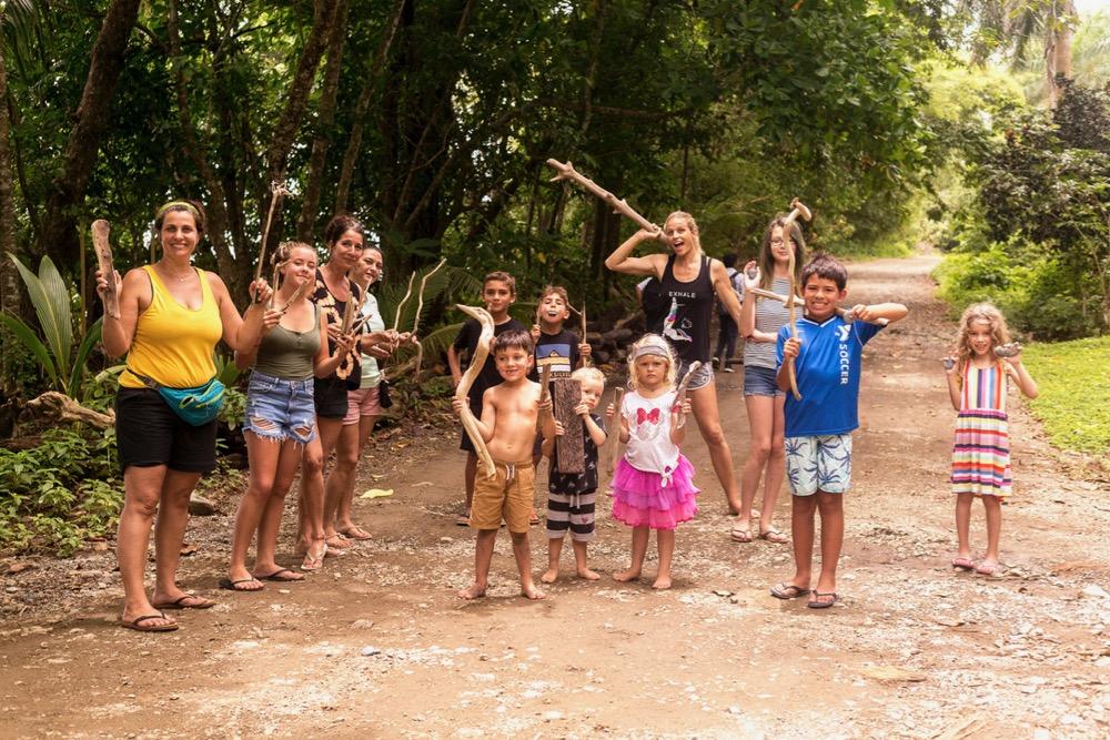 family retreat, art class, Costa Rica