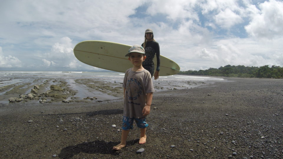 holly beck, solo Obermeyer, surfing, family surf retreat, Costa Rica, surf with amigas