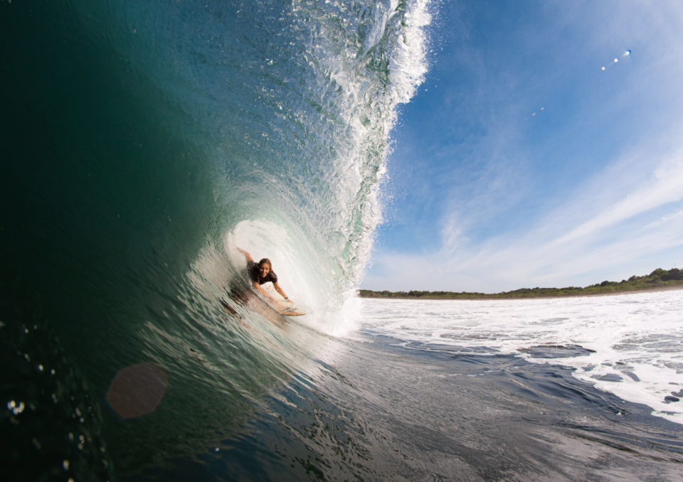holly beck, watershot, boom, nicaragua, surf with amigas