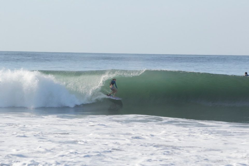 how to survive closeout tubes, holly beck, tube riding, learn to tube ride, surf coaching, Nicaragua, surf with amigas