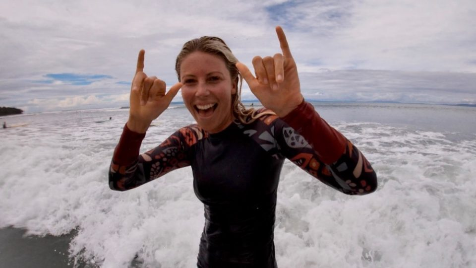 shelly, double Shaka, surf with amigas, learn to surf, surf camp, Costa Rica