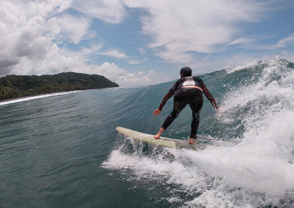 water shot, surf with amigas, surf camp, learn to surf, Costa Rica, holly beck
