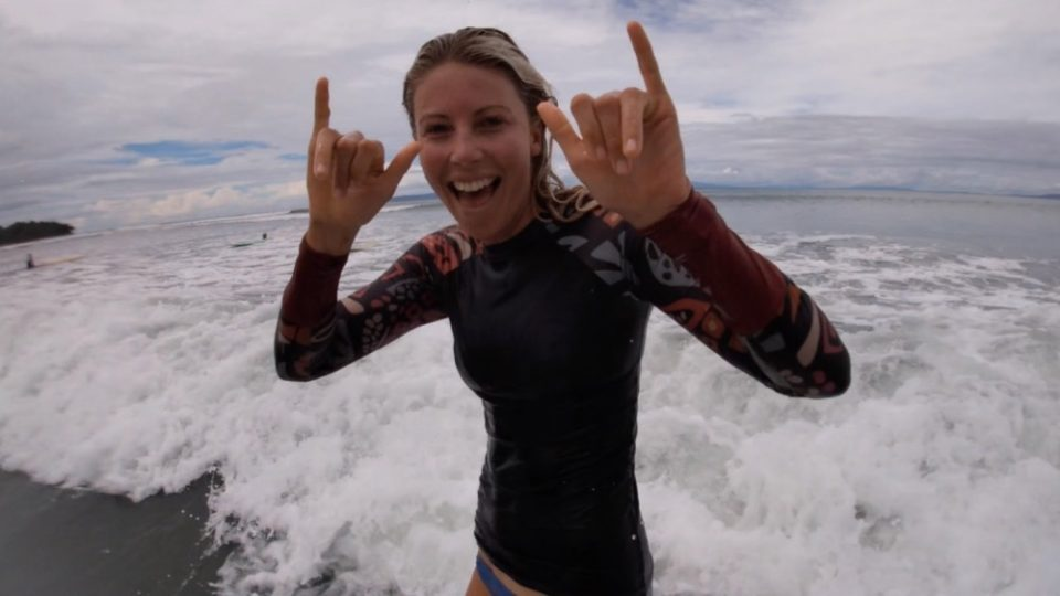 Michelle massie, surf with amigas, stoked