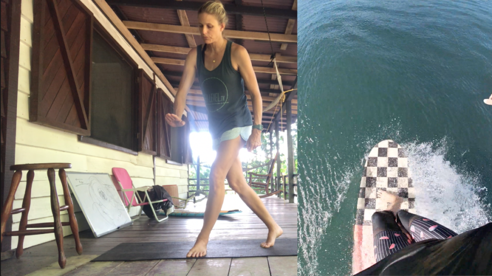 holly beck, surf coach, learn to surf, how to nose ride