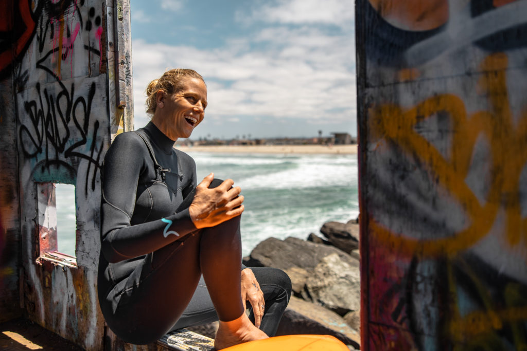 holly beck, holistic surf coaching, surf therapy, mamala surf wetsuits